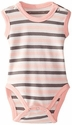 L'ovedbaby | Sleeveless Bodysuit: Coral Stripe