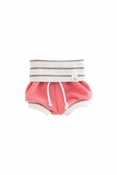 Lulu + Roo | Coral & Coastal Stripe Beach Shorties