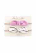 Lulu + Roo | Flamingo and Coastal Stripe Headband Set