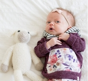 Lulu + Roo | Infant Hoodie: Mulberry Floral