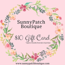 SunnyPatch Gift Card - $10