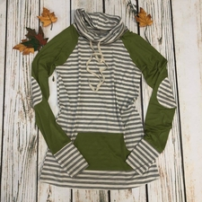 Women's Funnel Neck Raglan - Olive