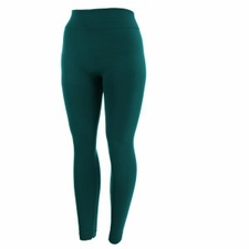 Women's Plus Size Fleece-Lined Leggings | Teal Green