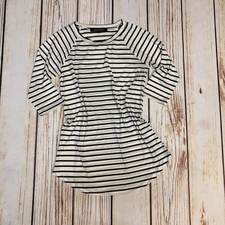 Women's Striped Raglan Top | Navy & White