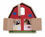 Wooden Toys | First Play Peek-a-Boo Barn