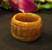 Honey Jade Ring Band