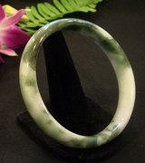 Light-and-Dark Green Bangle