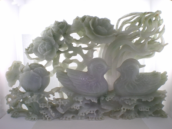 Roses and Ducks Scenery Sculpture