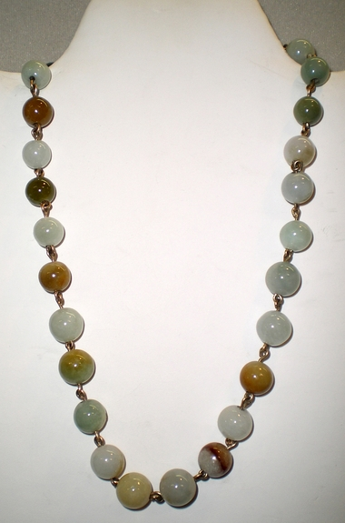 White-Green-Earth Necklace