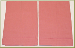 6 Baby Pink Guest Towels