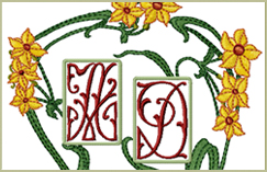 AN Daffodils 2-letter Monograms