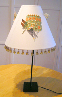 Self adhesive embroidered lamp shade art nouveau lamp shade aloadofball Gallery