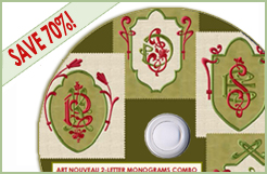 Art Nouveau Monogram Combo CD