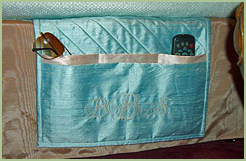 Bed Caddy with Castle Initials