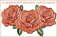 Cabbage Roses Appliques