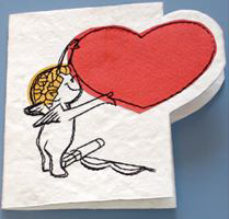 Card, Embroidered & Applique On Paper