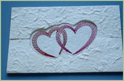 Card, Embroidered On Mulberry Paper 2