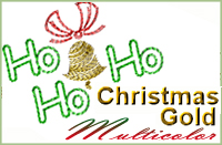 Christmas Gold Multicolor 5x7