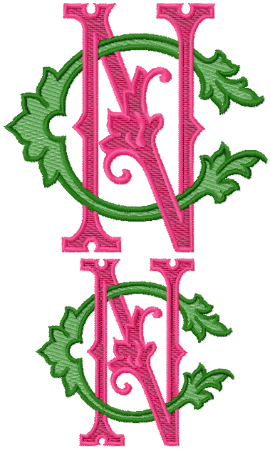 Cn nc embroidery monogram design