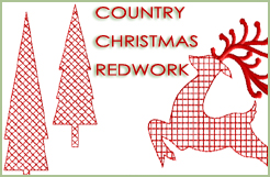 Country Christmas Redwork