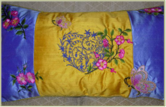 Crazy-Quilt Pillow