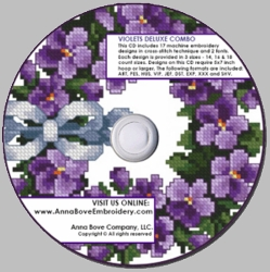 Cross-stitch Violets Combo Pack