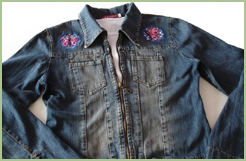 Denim Jacket with Butterflies