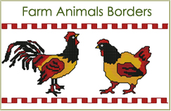 Farm Animals Borders