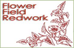 Flower Field Redwork