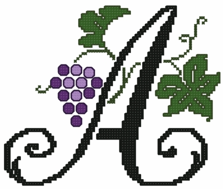 Grape Vines Font XS Large