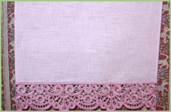 Guest Towel with Lace Border