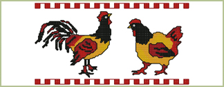 Hen  Rooster Border