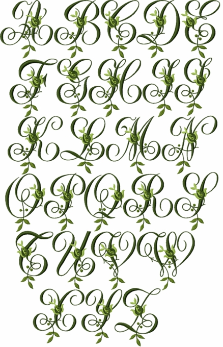 Jacobean Forest Initials
