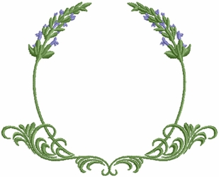 Lavender Initial Frame - small