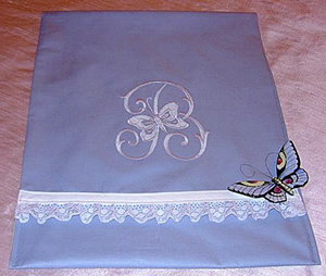 Lingerie Bag with Cutwork Butterflies