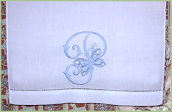 Monogrammed Guest Towels