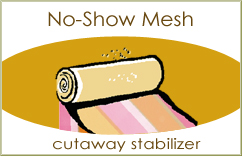 No-show Mesh Backing