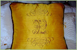 Pillow with Heraldic Embroidery Designs