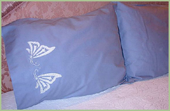 Pillows with Cutwork Butterflies