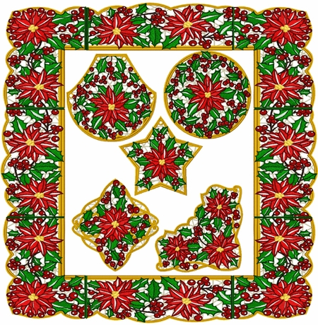 Poinsettia Christmas Lace