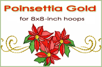 Poinsettia Gold 8x8