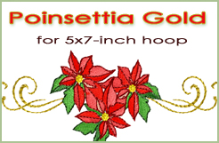 Poinsettia Gold for 5x7-inch hoops