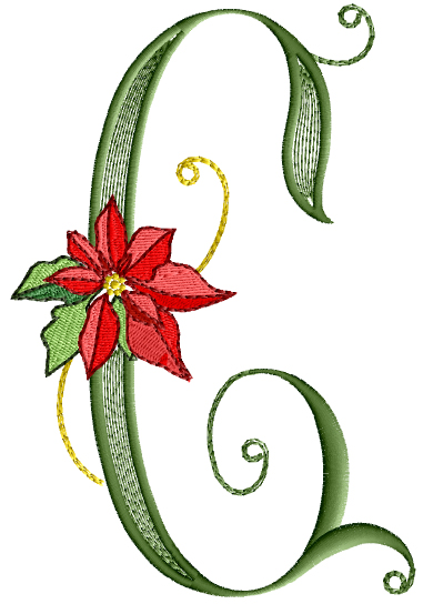 Poinsettia Gold - Letter C