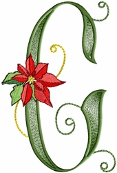 Poinsettia Gold - Letter G