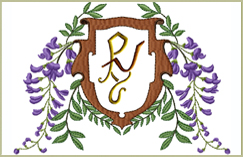 Purple Vine 2-letter Monograms