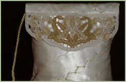 Purse with Lace Top