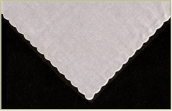 Scalloped Edge Handkerchiefs - White