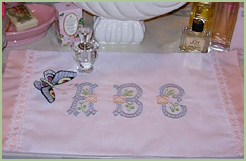 Table Runner with Country Charm Font