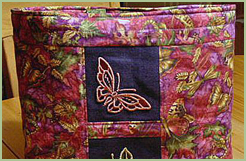 Tote Bag with Cutwork Butterflies