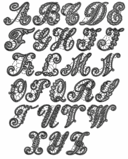 Venice Initials Machine Embroidery Font 4x4 And 5x7 Inch Hoops